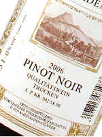 Pinot Noir Rotwein aus Baden
