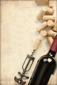 Rotwein Kork und Korkenzieher
